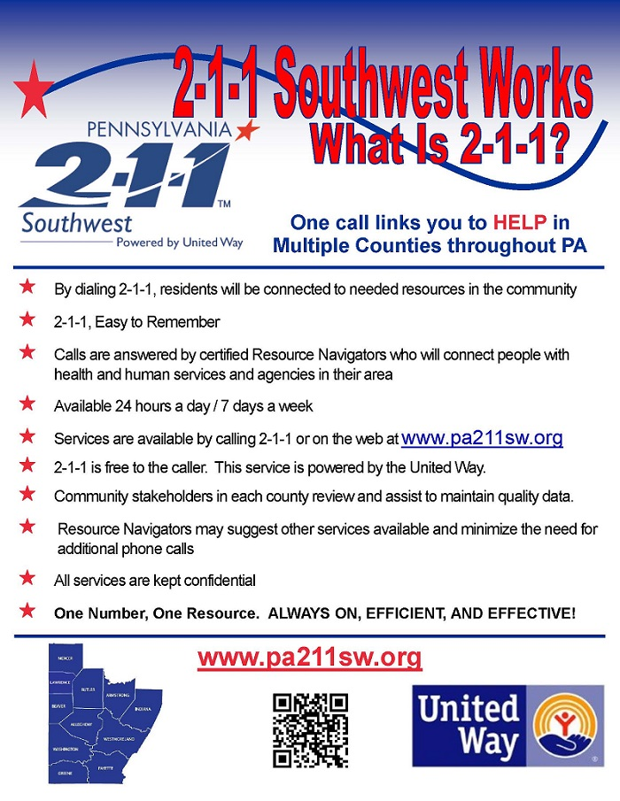 PA 2-1-1 Information Flyer