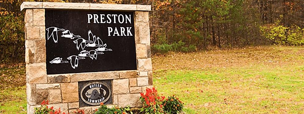 Preston Park Sign